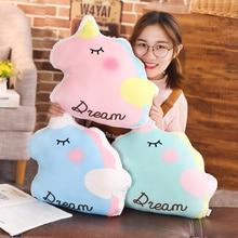 1Pcs 40cm Soft Kawaii Unicorn Birthday Party Plush Toy Cute Angel Unicornio Lovely Stuffed Animal Gift for Kid Baby Doll