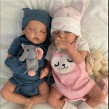 17 дюймов 43 см для ухода за ребенком для мам Reborn Baby Doll Twin B пустой комплект реалистичные новорожденных ткань средства ухода за кожей Bebe Reborn Baby ...