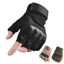 Уличные тактические перчатки без пальцев, военные армейские перчатки для стрельбы, пеших прогулок, охоты, альпинизма, езды на велосипеде, страйкбол, перчатки с полупальцами