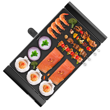 Natural marble Electric Grills Indoor Korean Bbq Grill Ceramic Smokeless Non-stick Less smoke Home Electric Barbeque Tools
