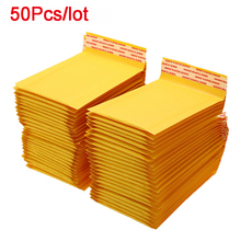 50Pcs/lot Kraft Paper Bubble Envelopes Bags Mailers Padded Shipping Envelope With Bubble Packaging Bags Courier Storage Bags
