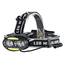 Rechargeable Bicycle Light Headlight 30000 Lumen Bike Headlamp 4* T6 +2*COB+2*Red LED Head Lamp Flashlight Torch Fishing Camping walkfire 2200 lumen xml t6 led bicycle light headlamp bike headlight lamp flashlight with 6400mah or 10000mah battery