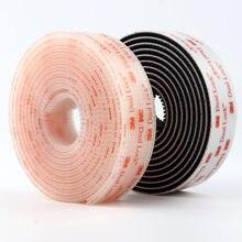 Velcros Adesivo Tipo 400/25. 3 4 milímetros Largura 3M Dual Lock SJ3551 Preto Prendedor de Fita VHB Adesivas Cogumelo