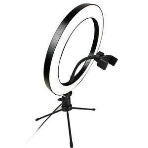 Image 2 - Photography LED Selfie Ring Light 26cm/16cm Dimmable 10inch USB Camera Phone Studio Ring Lamp With Tripods For Makeup Video Live