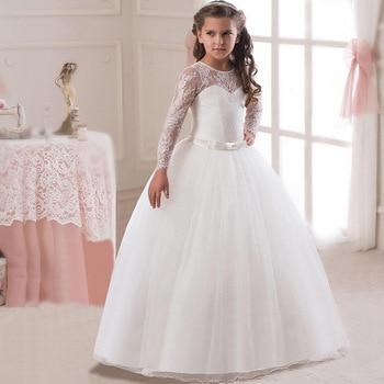 In Stock Flower Girl's Dresses Lace Wedding Princess Flower Girls Dresses In Stock бантики для девочек Birthday Banquet Girls цена 2017