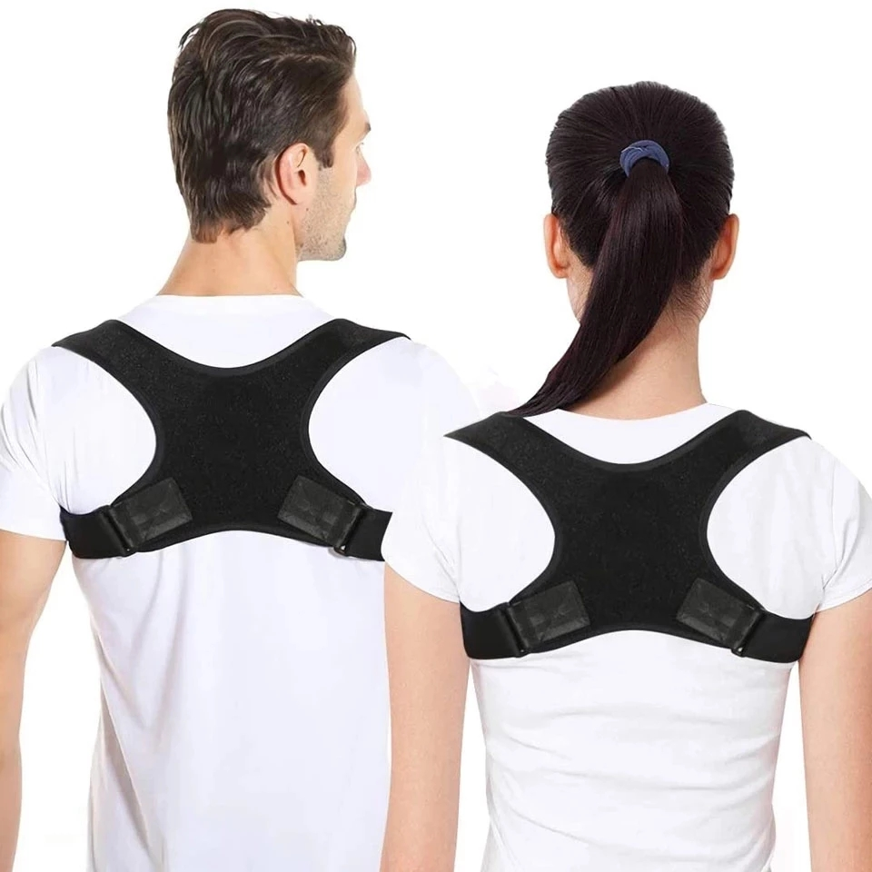Faixa corretora de postura para as costas, corretor ajustável para alívio da dor nas costas, correção de corcunda|Suportes|   -
