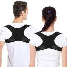 Faixa corretora de postura para as costas, corretor ajustável para alívio da dor nas costas, correção de corcunda