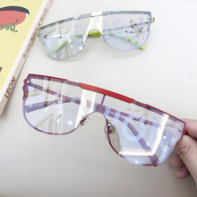 Print Fashion Letters Sunglasses 2020 Trendy Designer Unisex One Pieces