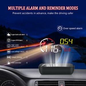 Image 3 - Auto HUD Display M10 A100 Windschutzscheibe Projektor OBD2 Überdrehzahl Warnung Multifunktions Intelligente Alarm System Fahr Sicherheit