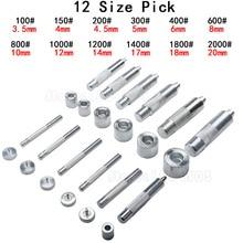 1 Set Handmade Metal Eyelets Mold Tool 3.5-20mm Eyelets Tool Grommet installation Carbon Steel DIY Accessories High Quality