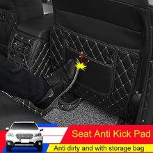 QHCP koltuk Anti Kick Mat kol dayama kutusu Anti kick pedleri koruyucu deri Subaru Outback Forester Legacy 2015 2016 2017 2018 2019