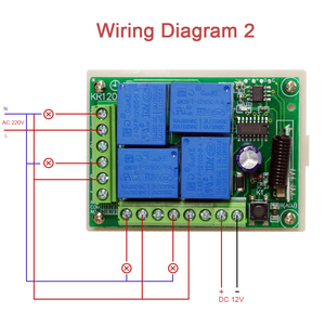 Image 4 - Rubrum 433MHz Universal Wireless DC 12V 4 Ch RF Remote Control Switch Receiver Module & 433 MHz Transmitter Learning Code Switch