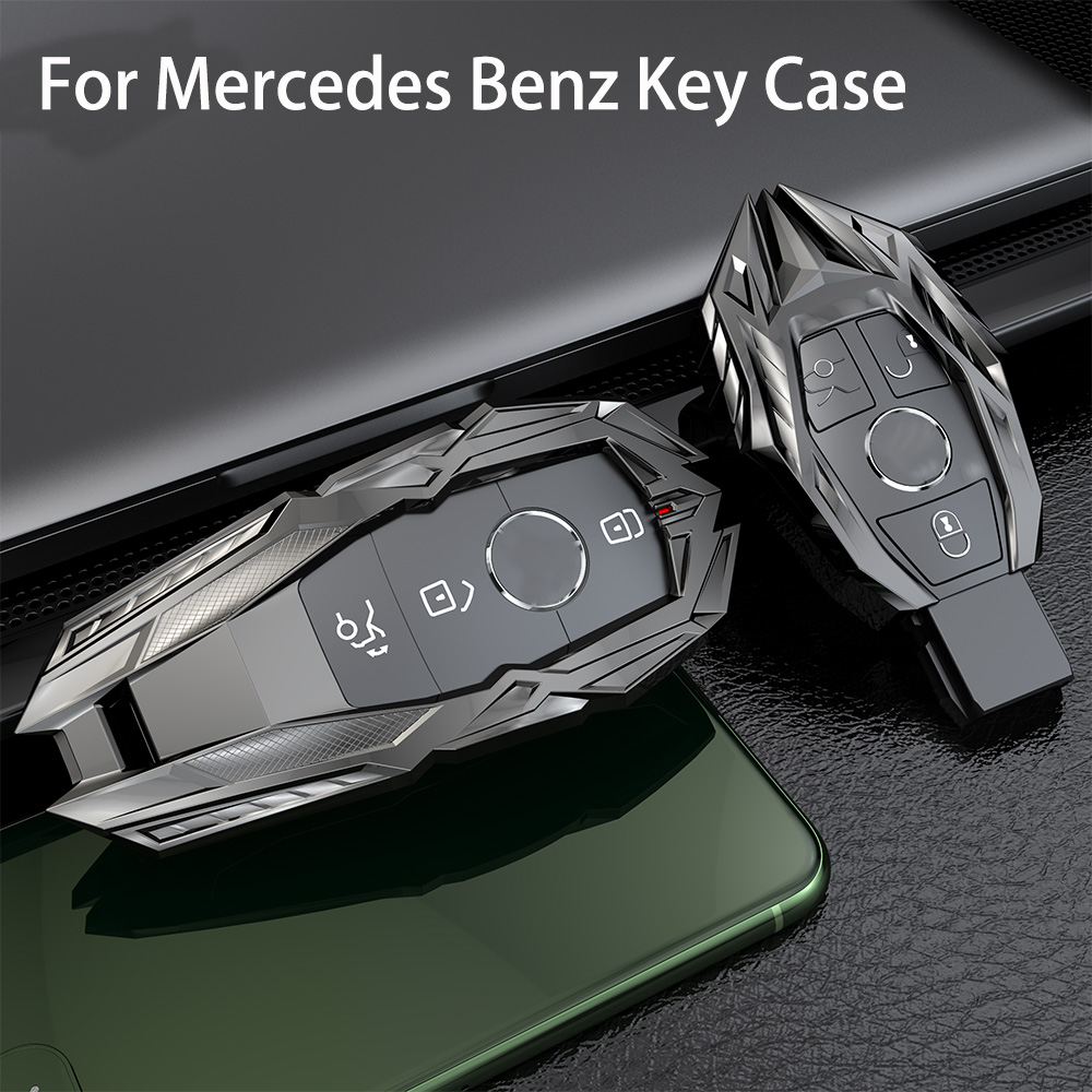 2017-up 2017-2018 //W213 Car Key Case for Mercedes Benz E-Class 2018-up ROMASO Car Key Cover Suit for Mercedes Benz //S-Class ,Cowhide Leather Car Key Fob Cover,Pink