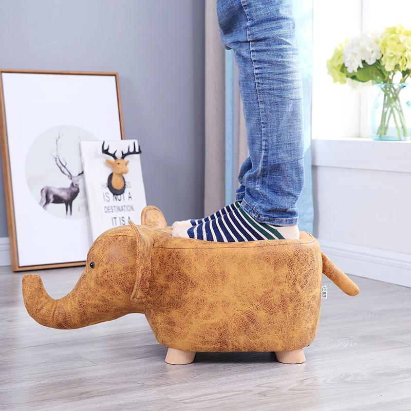 Creative Elephant Shoes Stool Cartoon Dinosaur Animal Stool Baby Toy Calf Stool Children Plush Lamb Stool