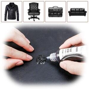 Image 2 - Visbella, 2 piezas, Kit de reparación de cuero líquido, restaurador de coche, asiento, sofá, agujeros, arañazos, grietas, Rips, piel, cuero, limpiador, herramienta de mano