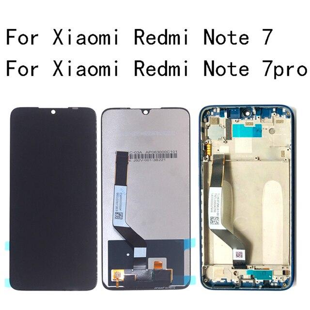 """6.26 """"LCD Originale Per Xiaomi Redmi Nota 7 Display LCD + Touch Screen Digitizer Assembly per la Nota Redmi 7 pro con telaio kit di Riparazione"""