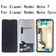 """6.26 """"orijinal lcd Xiaomi Redmi için not 7 lcd ekran + dokunmatik ekranlı sayısallaştırıcı grup Redmi için not 7 Pro çerçeve ile tamir kiti"""