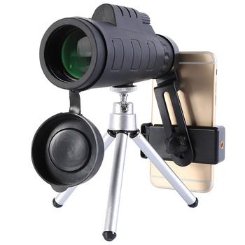 Monokularowy teleskop 50X60 wysokiej mocy monokularowy z uchwyt do smartfona monokularowy Zoom lornetka kieszonkowy teleskop przenośny tanie i dobre opinie CN (pochodzenie) binocle hunting telescope telescopio night vision binoculars chasse telescopio astronomico profesional