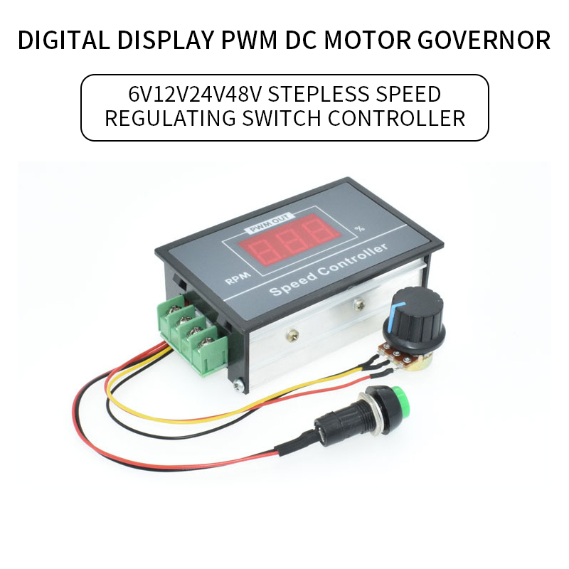 30A Digitale Led-anzeige 0 ~ 100% einstellbar DC 6V 12V 24V 48V Motor Speed Controller PWM DC Motor Speed Control Schalter