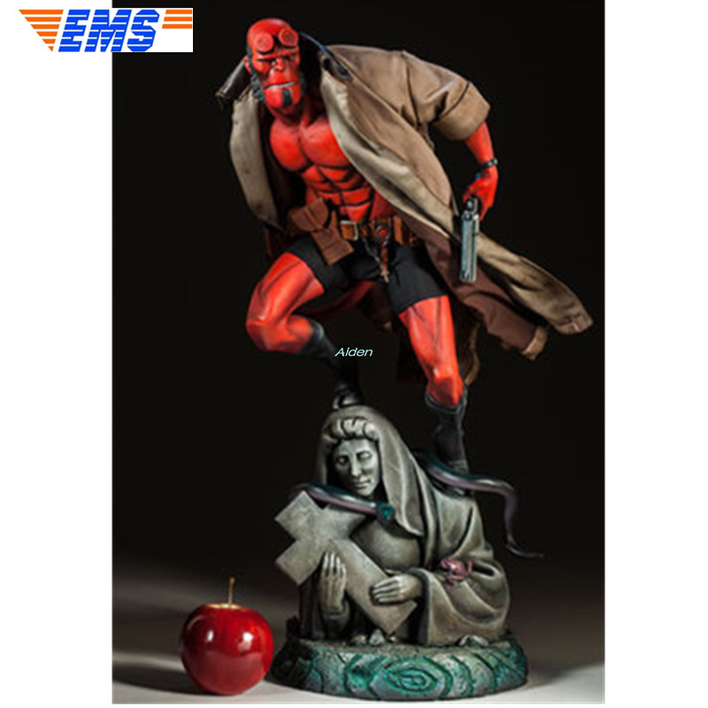 """23"""" SS 300252 Statue Satan Son Bust Hellboy Full-Length Portrait PF Series Resin Action Collectible Model Toy BOX 58CM Z2253"""