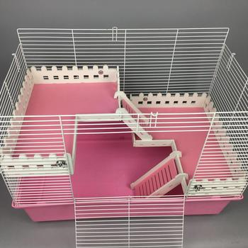 AsyPets Pet Cage Fence With Ladder Toy For Syrian Hamster Supplies