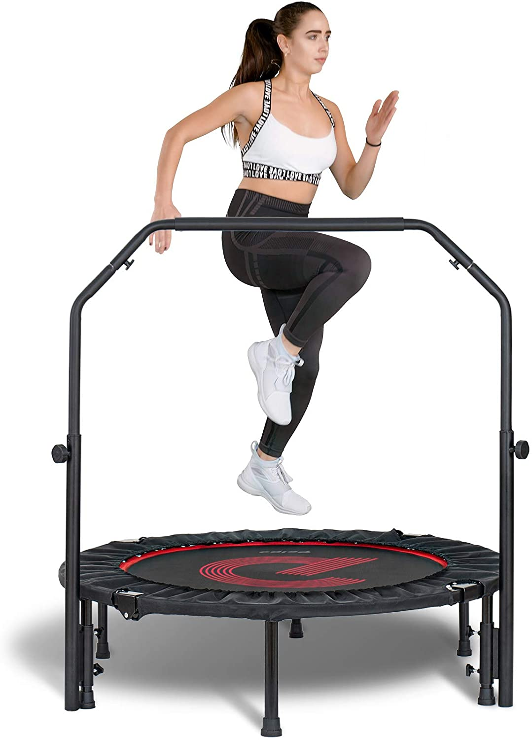 Permalink to Indoor Small Rebounder Exercise Trampoline for Workout Fitness for Quiet and Safely Cushioned Bounce 40 Inch