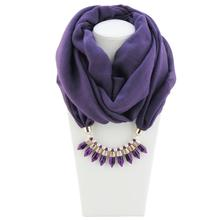 Jzhifiyer feminino inverno jersey pendant ring scarfs jewellery hijab scarf ladies fashion jewelry polyester
