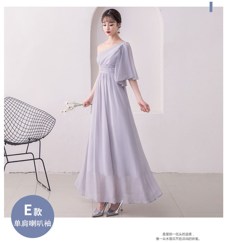 One Shoulder A-Line Junior Bridesmaid Dresses Elegant Women For Wedding Party Chiffon Long Simple Dress Sexy Prom Club Vestido