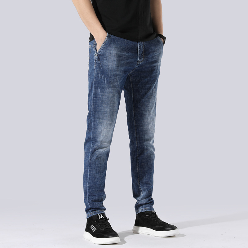 Jeans Men Loose Elasticity Skinny Pants Trend Men'S Wear BOY'S Pants Trend Men'S Wear 789