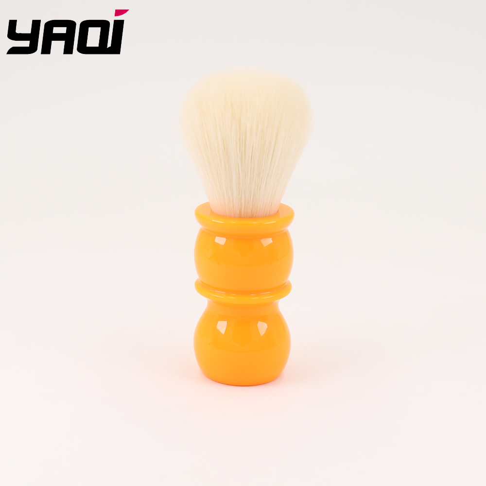 Yaqi 22mm Soft  Cashmere Synthetic Hair  Orange Handle Shaving Brushes