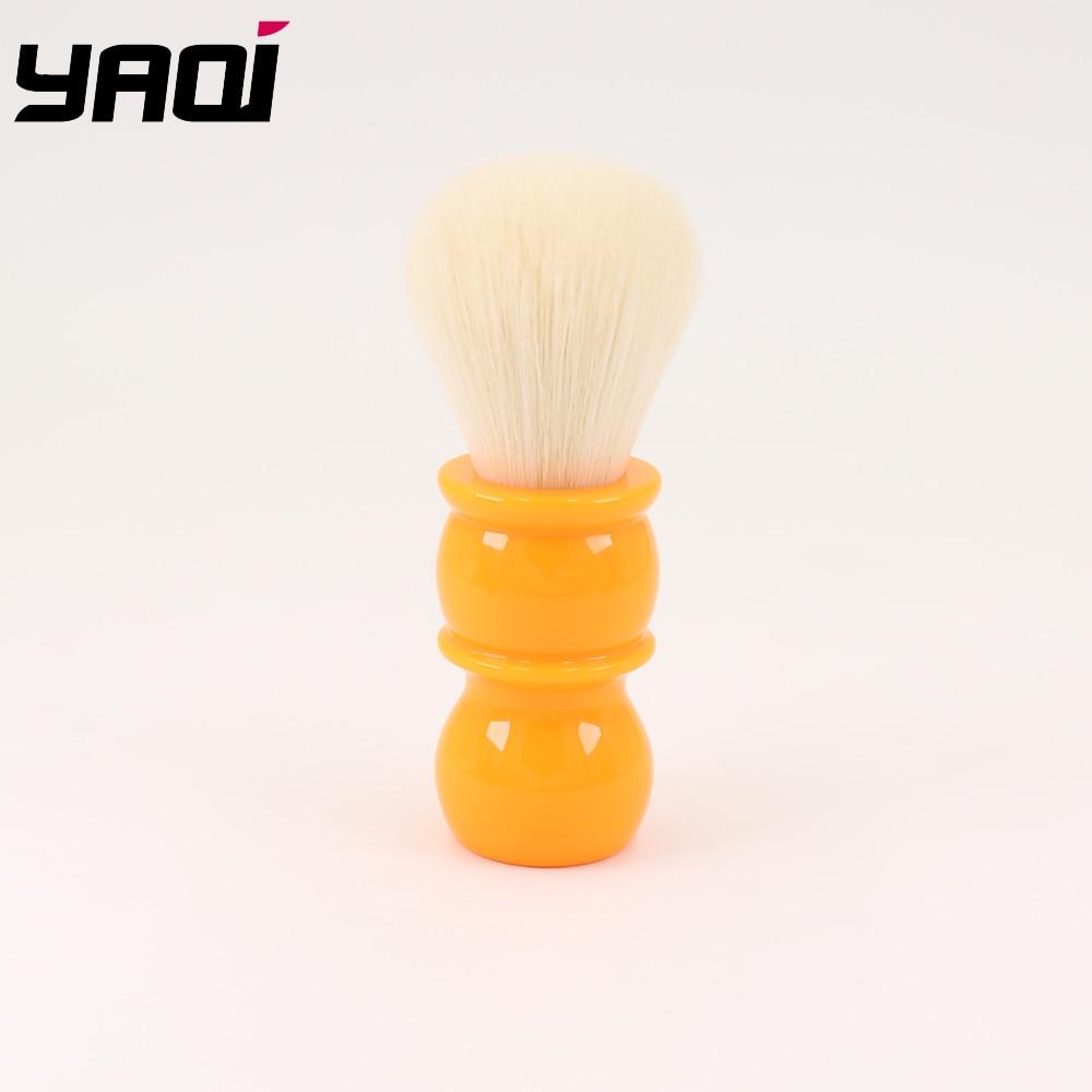 Yaqi 22mm Soft  Cashmere Synthetic Hair  Orange Handle Shaving Brushes