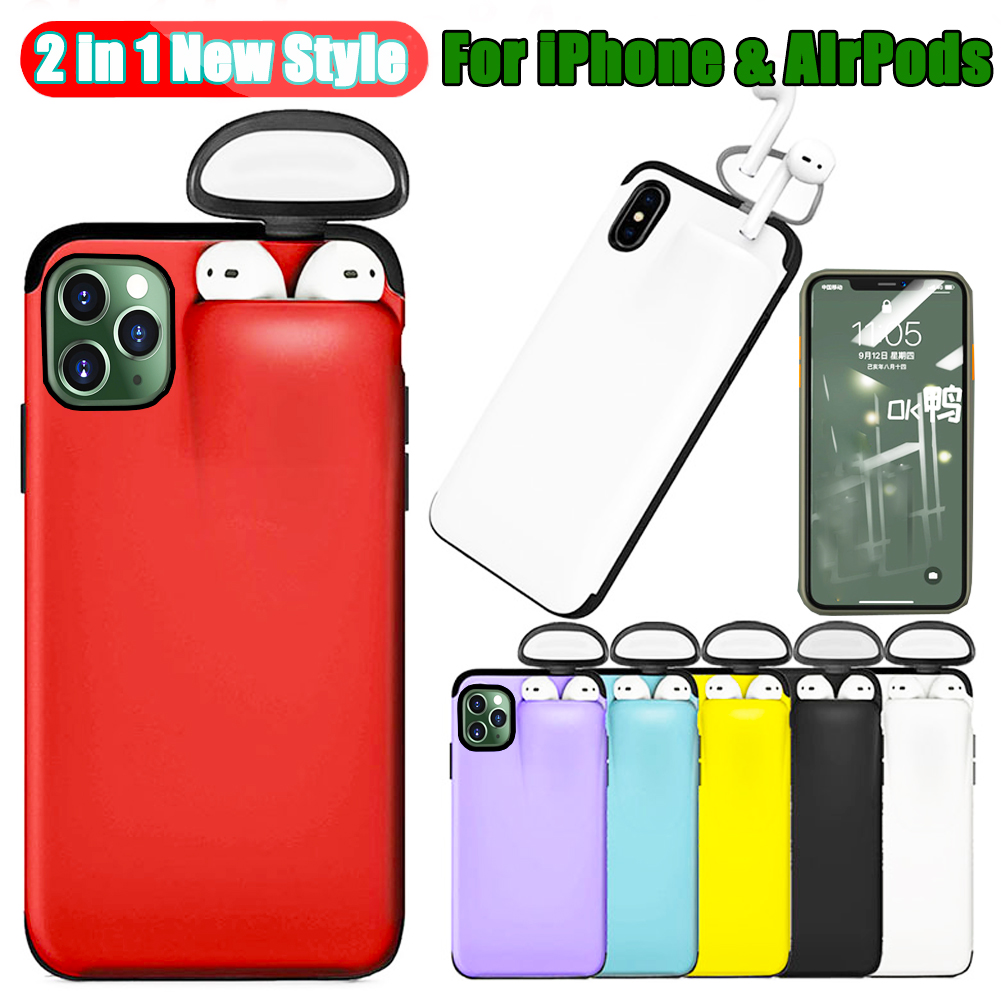 Hbd74943ab815419aaae0159d3ab501bcq Jetjoy Case for iPhone 11 Pro Max Case Xs Max Xr X 10 8 7 Plus Cover for AirPods 2 1 Holder Hard Case for AirPods Case Hot Sale