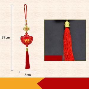 Красные китайские Новогодние подвески, домик, скользящие Новогодние украшения для дома, украшение для весеннего фестиваля, вечерние товары