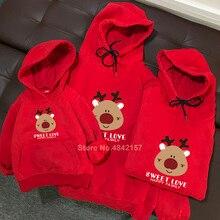 Осенние Рождественские свитера для всей семьи; толстовки с принтом оленя и лося; одинаковые пижамы для мамы и меня; Свитшот; подарок на год