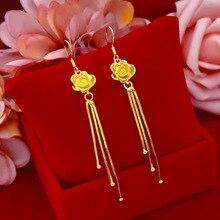 Korea Fashion Women Earring 24K Gold Drop Earrings