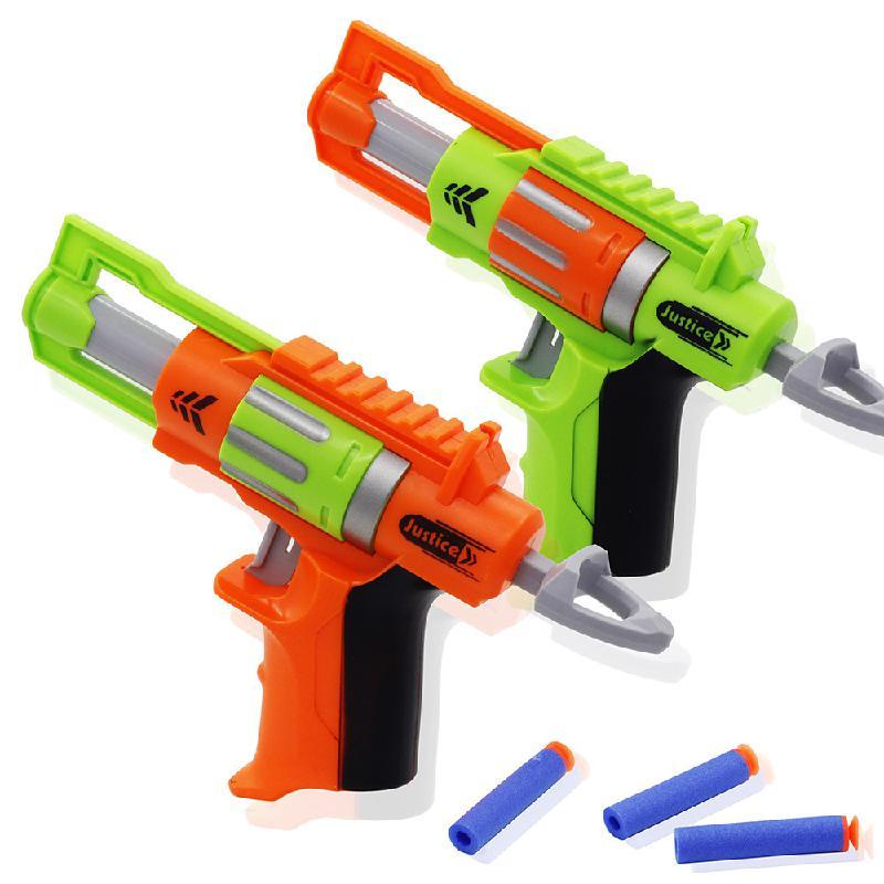 New Toy Gun Bullet Toy Eva Bullet Pistol Model Long Distance Dart Blaster Gun Child Birthday Toy Gift Manual Bullet Gun Set(China)