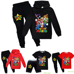 2020 New 3-14Y children's sportswear hoodie super mario brothers boys and girls long sleeve spring and autumn winter suit