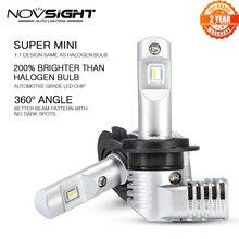 1:1 עיצוב NOVSIGHT H7 Led H4 רכב פנס נורות H11 H16JP 9005 9006 9012 P13 PSX24W PSX26W 50W 10000LM 6500K אוטומטי פנס