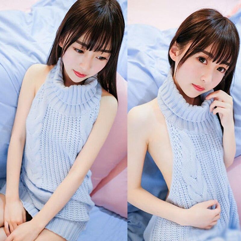 FORERUN Herbst 2017 Mode Reines Mörder Pullover Koreanische Off Schulter Stricken Frauen Pullover Rollkragen Backless Sexy Pullover
