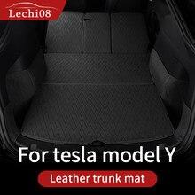 Кожаный багажник для Tesla модель y багажник коврик аксессуары модель Y tesla Y аксессуары полноразмерная задняя Подушка 7 шт./компл.