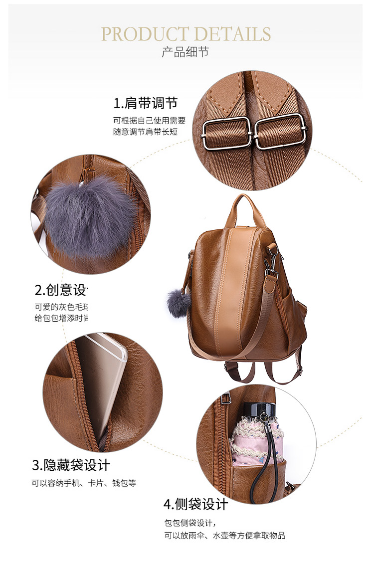 Hbd750cfcf6a640df87df15ed5e6fec5aS 2019 Women Leather Anti-theft Backpacks High Quality Vintage Female Shoulder Bag Sac A Dos School Bags for Girls Bagpack Ladies