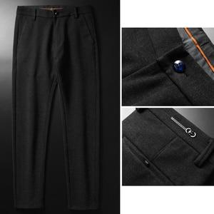 Image 4 - Pantalon en tricot épais pour hommes, vêtement de marque épais, avancé, extensible et à la mode, nouvelle collection automne et hiver 2019