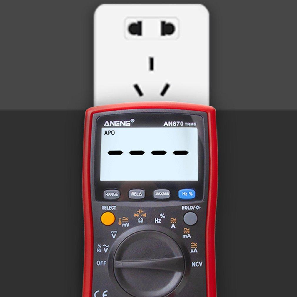 multi-função eletricista display digital aneng