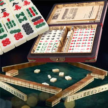 Relief-Toys Card-Games Mah-Jong-Set Tiles Chinese Traditional Party Family Portable 144
