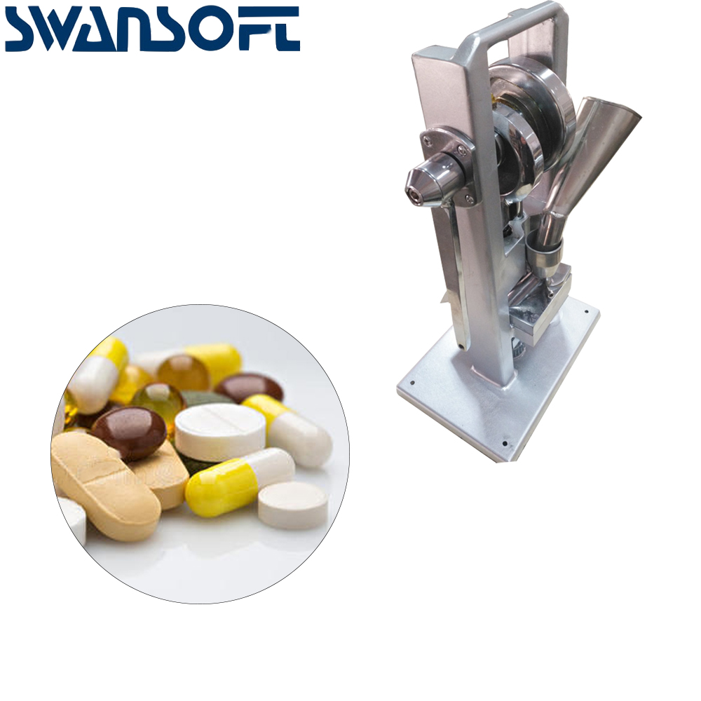 SWANSOFT Manuelle Einzigen schlag tablet presse/pille presse/pille, der/(leichteste typ) TDP-0 /hand-betrieben
