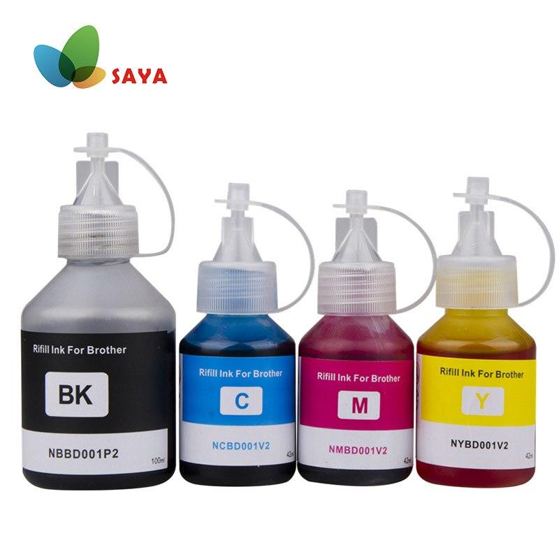 SAYA специализированный комплект чернил для заправки 4 цветов, совместимый с струйным принтером Brother, Φ DCP T300 500W 700W Φ MFC T800W