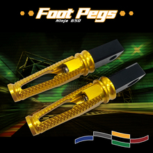 NEW Motorcycle CNC Rear Foot Pegs Passenger Footrest pedal For Kawasaki Ninja650 Ninja400 Ninja 400 650