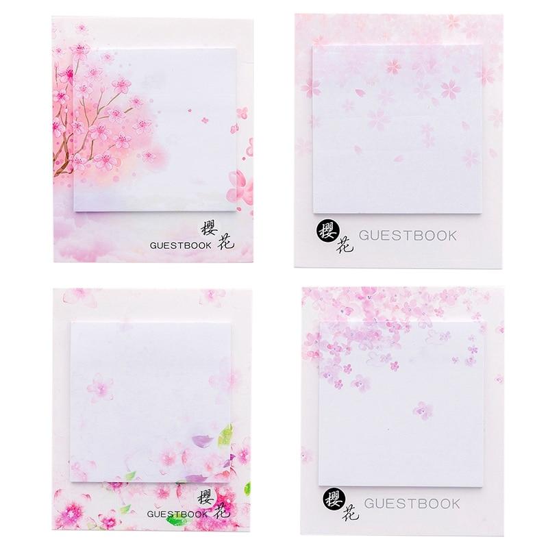 Lovely Sakura Flower Sticky Note Memo Pad Message Sticker Office School Paper