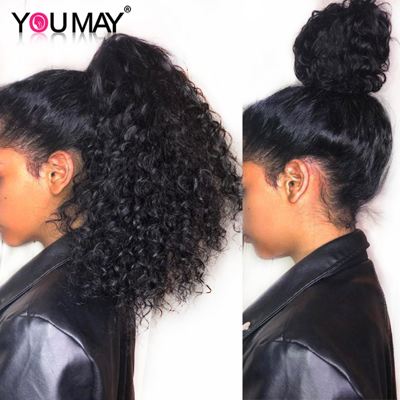 250 Density Brazilian Curly Human Hair Wigs Pre Plucked Baby Hair 13X6 Curly Lace Front Wigs