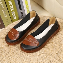 Flat-Shoes Non-Slip Womens High-Quality Extra Mom Casual Shallow for Large